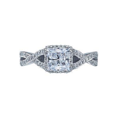 Tacori 2627PRMD Dantela Platinum Princess Cut Engagement Ring