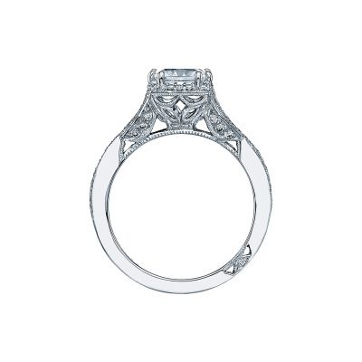 Tacori 2627PRMD Platinum Princess Cut Engagement Ring side
