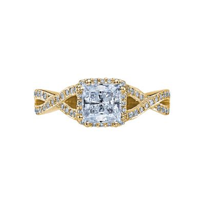 Tacori 2627PRMD-Y Dantela Yellow Gold Princess Cut Engagement Ring