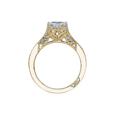 Tacori 2627PRMD-Y Yellow Gold Princess Cut Engagement Ring side