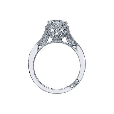 Tacori 2627RD White Gold Round Engagement Ring side