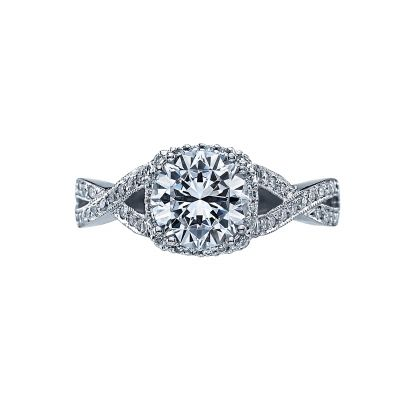 Tacori 2627RDMD Dantela Platinum Round Engagement Ring