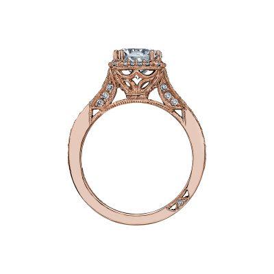 Tacori 2627RDMD-PK Rose Gold Round Engagement Ring side