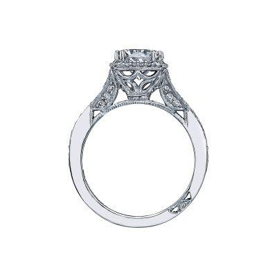 Tacori 2627RDMD Platinum Round Engagement Ring side