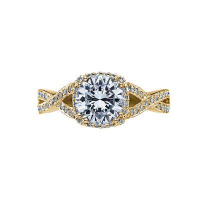 Tacori 2627RDMD-Y Dantela Yellow Gold Round Engagement Ring
