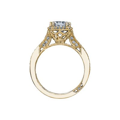 Tacori 2627RDMD-Y Yellow Gold Round Engagement Ring side