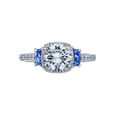 Tacori 2628RD Dantela White Gold Round Engagement Ring