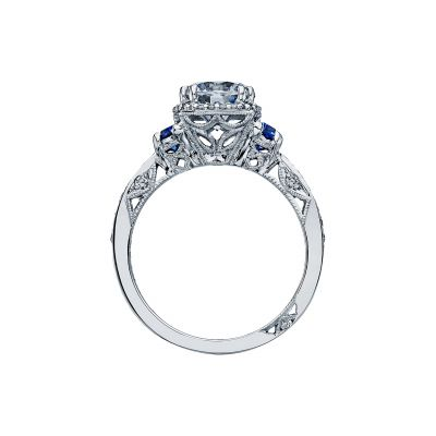 Tacori 2628RD White Gold Round Engagement Ring side