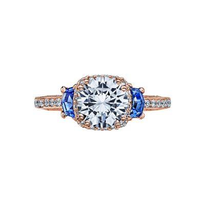 Tacori 2628RDSP-PK Dantela Rose Gold Round Engagement Ring
