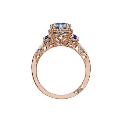 Tacori 2628RDSP-PK Rose Gold Round Engagement Ring side