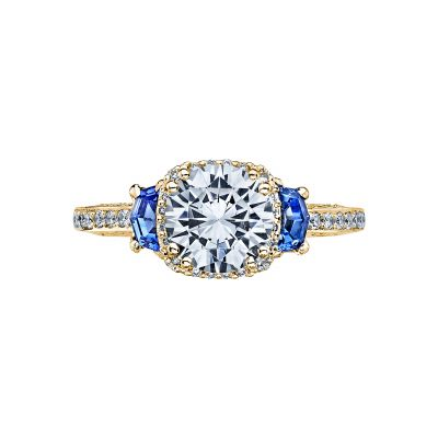 Tacori 2628RDSP-Y Dantela Yellow Gold Round Engagement Ring