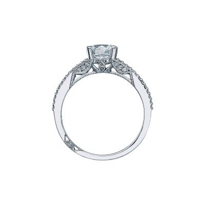 Tacori 2632RD White Gold Round Engagement Ring side