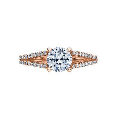 Tacori 2632RD65-PK Simply Tacori Rose Gold Round Engagement Ring