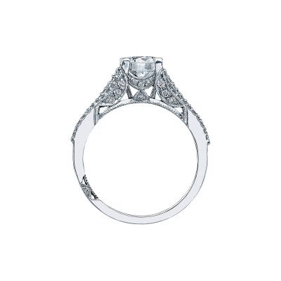 Tacori 2634RD White Gold Round Engagement Ring side
