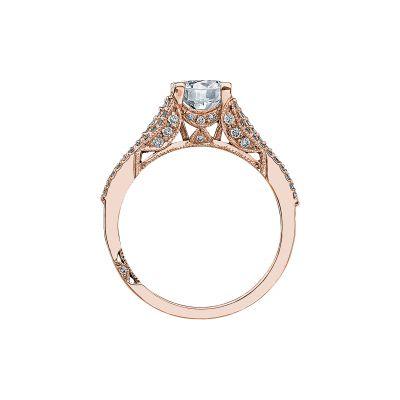 Tacori 2634RD65-PK Rose Gold Round Engagement Ring side