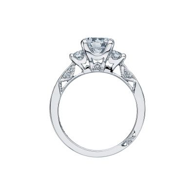 Tacori 2635RD White Gold Round Engagement Ring side