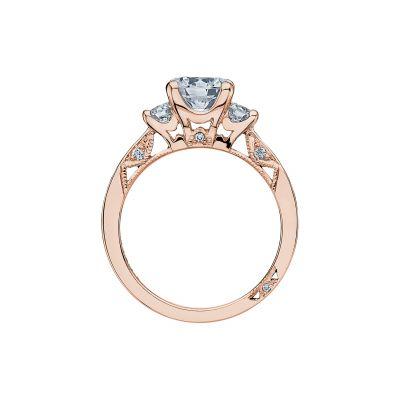 Tacori 2635RD65-PK Rose Gold Round Engagement Ring side