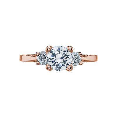 Tacori 2635RD65-PK Simply Tacori Rose Gold Round Engagement Ring