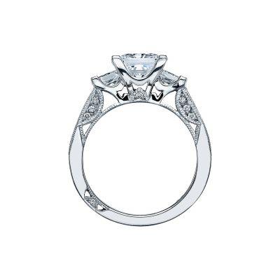 Tacori 2636PR White Gold Princess Cut Engagement Ring side