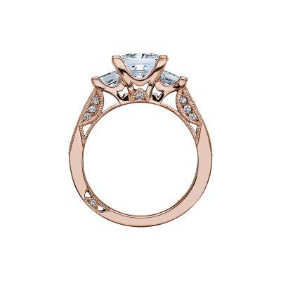 Tacori 2636PR7-PK Rose Gold Princess Cut Engagement Ring side
