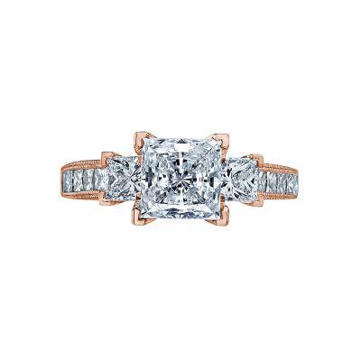 Tacori 2636PR7-PK Simply Tacori Rose Gold Princess Cut Engagement Ring