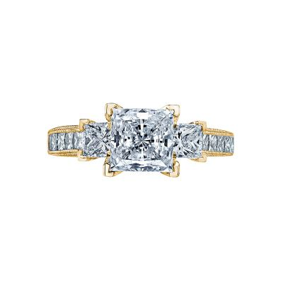 Tacori 2636PR7-Y Simply Tacori Yellow Gold Princess Cut Engagement Ring