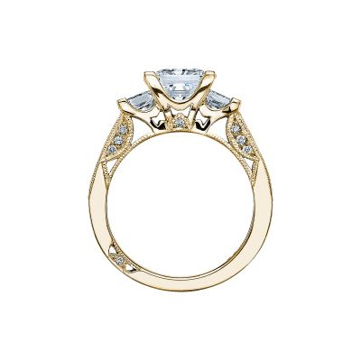 Tacori 2636PR7-Y Yellow Gold Princess Cut Engagement Ring side