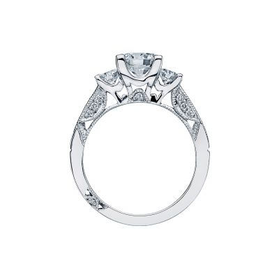 Tacori 2636RD White Gold Round Engagement Ring side