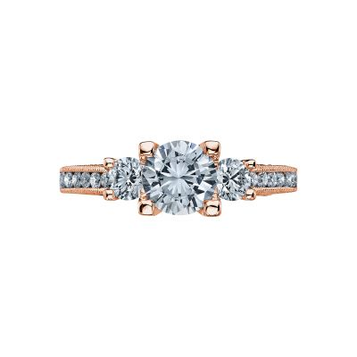 Tacori 2636RD65-PK Simply Tacori Rose Gold Round Engagement Ring