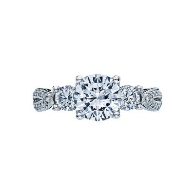 Tacori 2637RD Ribbon White Gold Round Engagement Ring