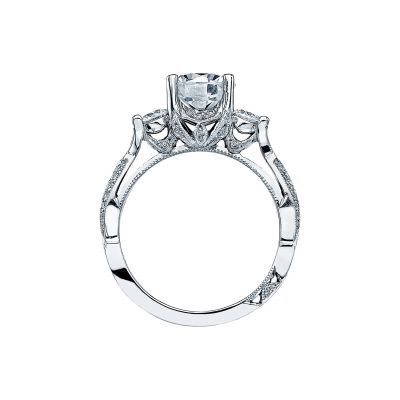 Tacori 2637RD White Gold Round Engagement Ring side