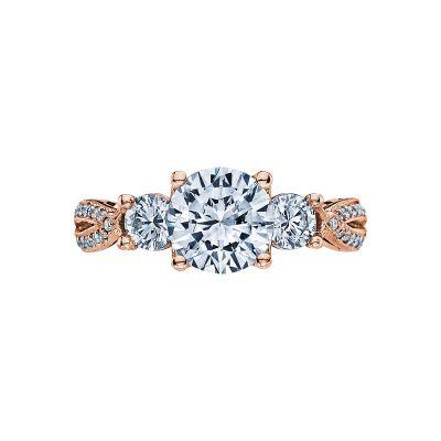 Tacori 2637RD75-PK Ribbon Rose Gold Round Engagement Ring