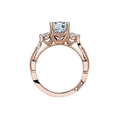 Tacori 2637RD75-PK Rose Gold Round Engagement Ring side