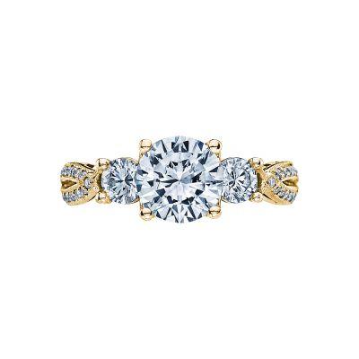 Tacori 2637RD75-Y Ribbon Yellow Gold Round Engagement Ring