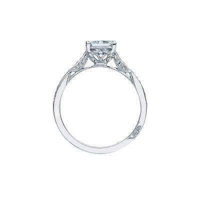 Tacori 2638PRP White Gold Princess Cut Engagement Ring side