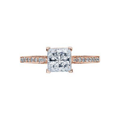 Tacori 2638PRP6-PK Dantela Rose Gold Princess Cut Engagement Ring