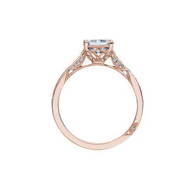 Tacori 2638PRP6-PK Rose Gold Princess Cut Engagement Ring side