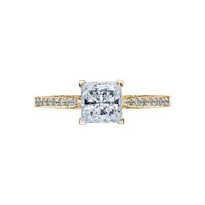 Tacori 2638PRP6-Y Dantela Yellow Gold Princess Cut Engagement Ring
