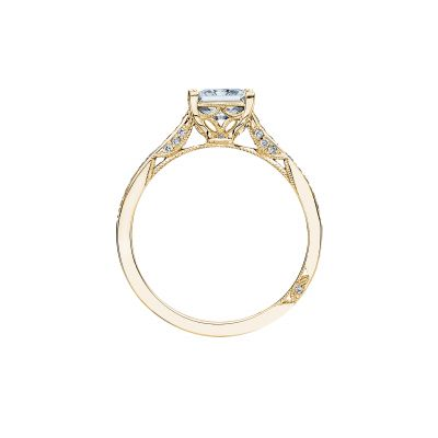 Tacori 2638PRP6-Y Yellow Gold Princess Cut Engagement Ring side