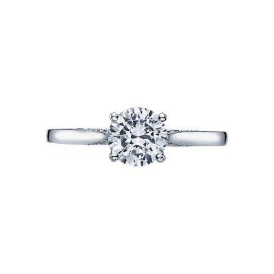 Tacori 2638RD Dantela White Gold Round Engagement Ring