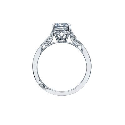 Tacori 2638RD White Gold Round Engagement Ring side