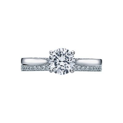 Tacori 2638RD White Gold Round Solitaire Engagement Ring set