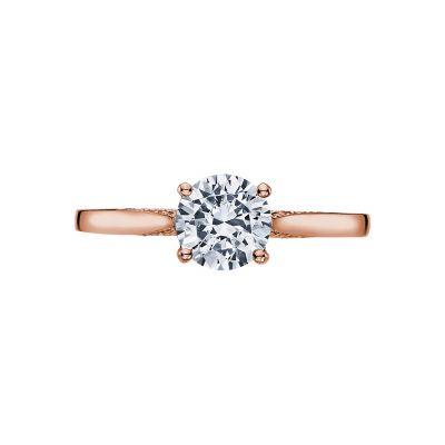 Tacori 2638RD65-PK Dantela Rose Gold Round Engagement Ring
