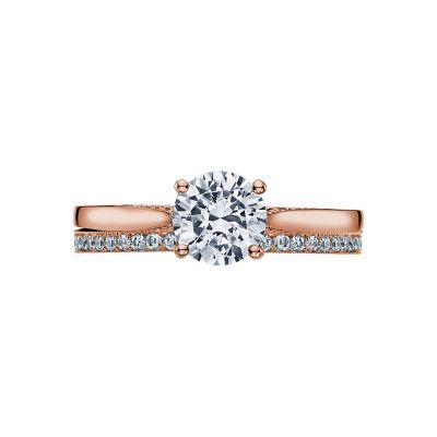 Tacori 2638RD65-PK Rose Gold Round Solitaire Engagement Ring set