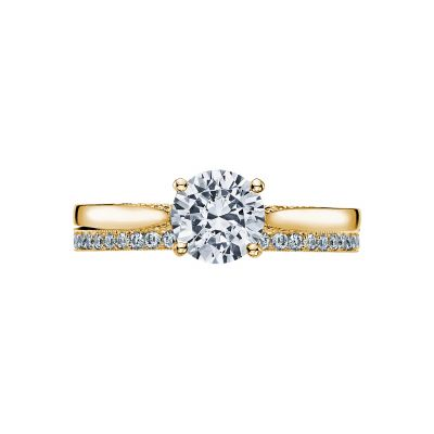 Tacori 2638RD65-Y Yellow Gold Round olitaire Engagement Ring set
