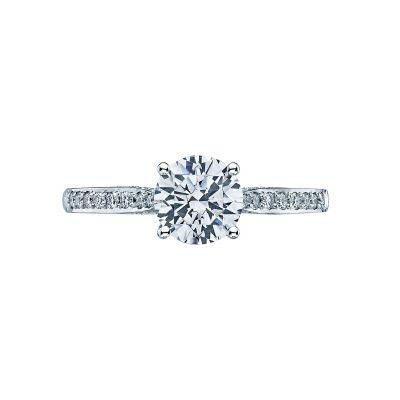 Tacori 2638RDP Dantela White Gold Round Engagement Ring