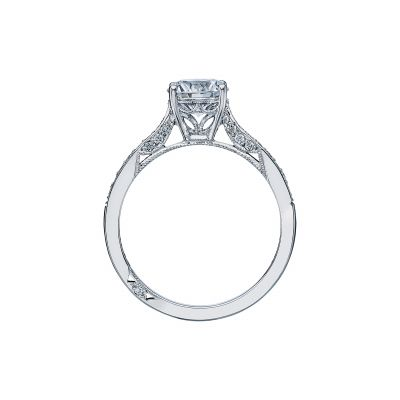 Tacori 2638RDP White Gold Round Engagement Ring side