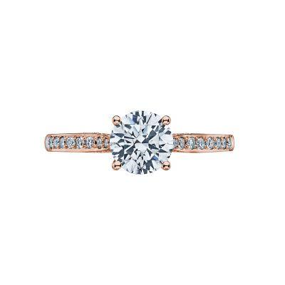 Tacori 2638RDP65-PK Dantela Rose Gold Round Engagement Ring