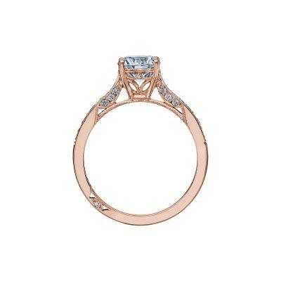 Tacori 2638RDP65-PK Rose Gold Round Engagement Ring side