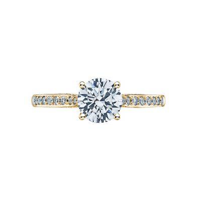 Tacori 2638RDP65-Y Dantela Yellow Gold Round Engagement Ring